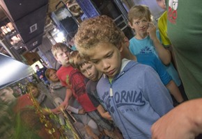 Aquaristik-Workshop: Kinder auf Tauchstation im Zoo