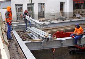 Stahlträger-Mikado: Geöffnete Hase wird wieder überbaut