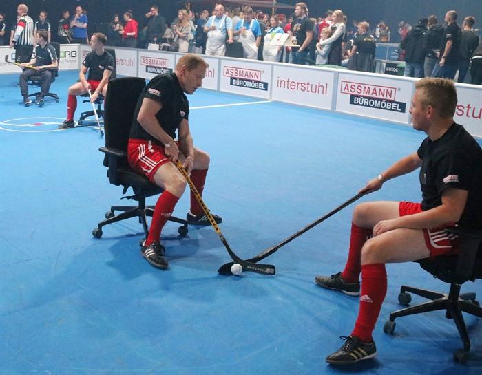 Hockey Auf Schreibtischstühlen Assmann Team Erfolgreich